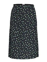 Hansine skirt - BLACK AOP
