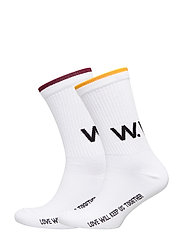 Gail 2-pack socks - BRIGHT WHITE STRIPE