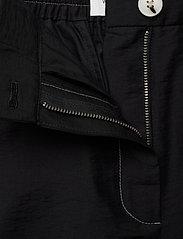 Wood Wood - Tilly trousers - bukser med brede ben - black - 3
