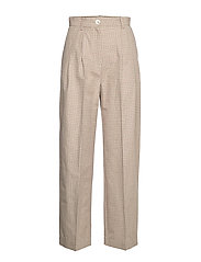 Sunna trousers - GREEN CHECK