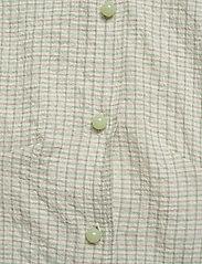Wood Wood - Lila shirt - lyhythihaiset paidat - green check - 3