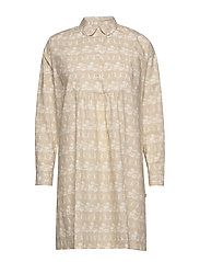 Janica dress - BEIGE AOP