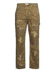 Halvard trousers - GREEN AOP