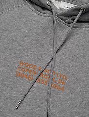 Wood Wood - Fred hoodie - basic sweatshirts - grey melange - 2