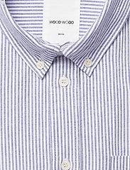 Wood Wood - Adam oxford shirt - linnen overhemden - blue stripes - 2