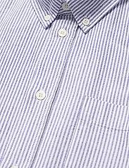 Wood Wood - Adam oxford shirt - linnen overhemden - blue stripes - 3