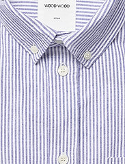 Wood Wood - Michael oxford shirt SS - linnen overhemden - blue stripes - 2