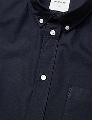 Wood Wood - Michael oxford shirt SS - linnen overhemden - navy - 3
