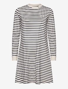 Isa dress - krótkie sukienki - off-white/navy stripes