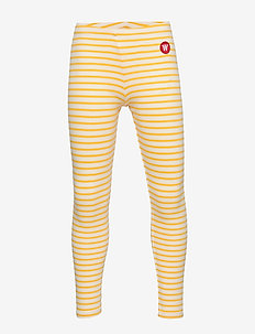 Ira leggings - leggings - off-white/yellow stripes