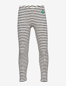 Ira leggings - leggings - off-white/navy stripes