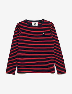 Kim kids long sleeve - langärmelige - navy/red stripes