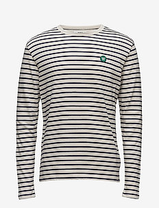 Mel long sleeve - lange mouwen - off-white/navy stripes