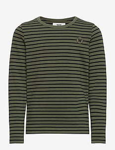 Kim kids long sleeve - dlugi-rekaw - army/black stripes