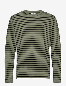 Mel long sleeve - långärmade t-shirts - army/black stripes