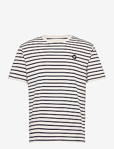 Ace T-shirt - kurzärmelig - off-white/navy stripes