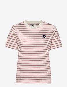 Mia T-shirt - t-shirts - off-white/rose stripes