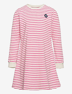 Aya kids dress - jurken & rokjes - off-white/pink stripes