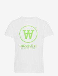Ola kids T-shirt - kortærmede - white/green print