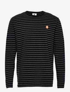 Mel long sleeve - lange mouwen - black/grey stripes