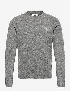 Kevin lambswool jumper - tricots basiques - grey melange