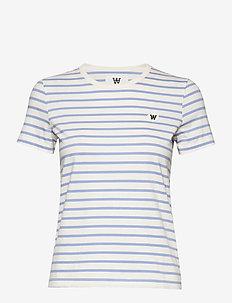 Uma T-shirt - OFF-WHITE/BLUE STRIPES