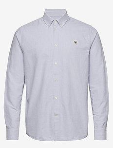 Ted shirt - biznesowa - off-white/blue stripes