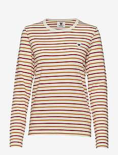 Moa long sleeve - ORANGE MULTI STRIPES