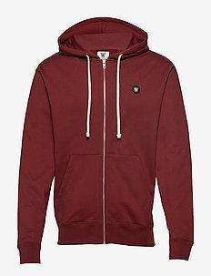 Dan zip hoodie - DARK RED