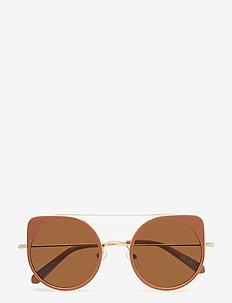 Virgo sunglasses - okulary przeciwsłoneczne okrągłe - brown