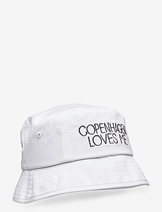 Copenhagen Loves Me bucket hat - BRIGHT WHITE
