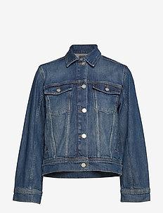 Alia jacket - jeansjackor - mid blue