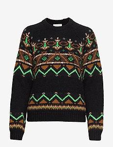 Asta sweater - BLACK JACQUARD
