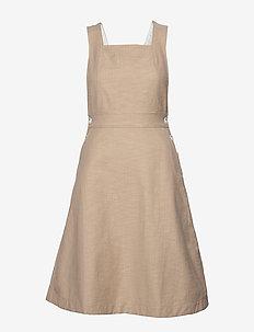 Elina dress - midi kjoler - khaki