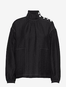 Carla top - bluzki z długimi rękawami - black