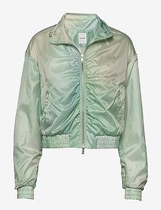 Silke track jacket - kurtki bomber - green aop