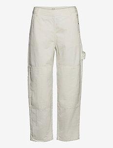 Esther trousers - bukser med brede ben - off white