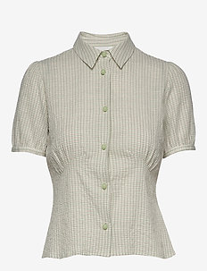 Lila shirt - GREEN CHECK