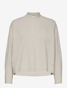 Margurite shirt - long-sleeved shirts - off-white stripes