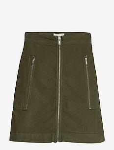 Annika skirt - korte nederdele - dark green