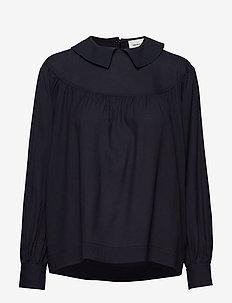 Maia top - blouses med lange mouwen - navy