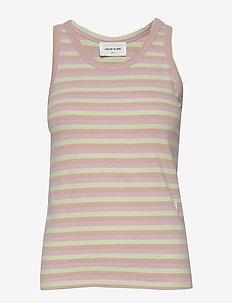 Mila top - t-shirt & tops - green stripes