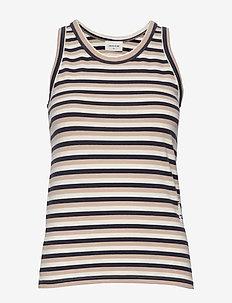 Mila top - t-shirt & tops - off-white stripes