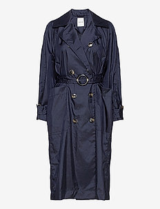 Karin trench coat - trenchcoats - navy
