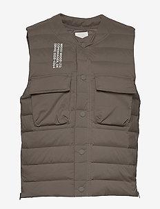 Kelvin light padded vest - liivit - moss