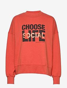 Patti sweatshirt - sweatshirts - coral