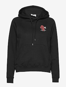 Lara hoodie - hættetrøjer - black