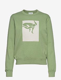 Rose sweatshirt - sweatshirts - dusty green