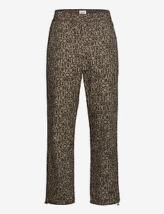 Halsey trousers - casual - taupe aop