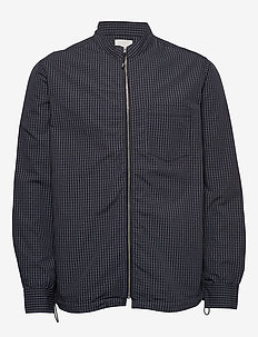 Abbott shirt - kurtki bomber - navy check